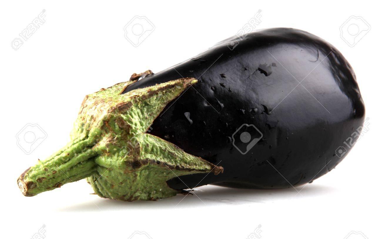 Eggplant on a white background Stock Photo - 10160436