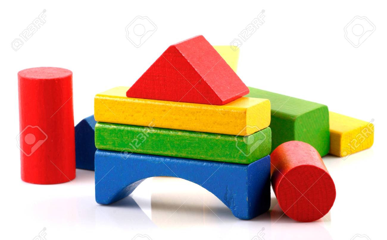 Wooden building blocks. Stock Photo - 13421154