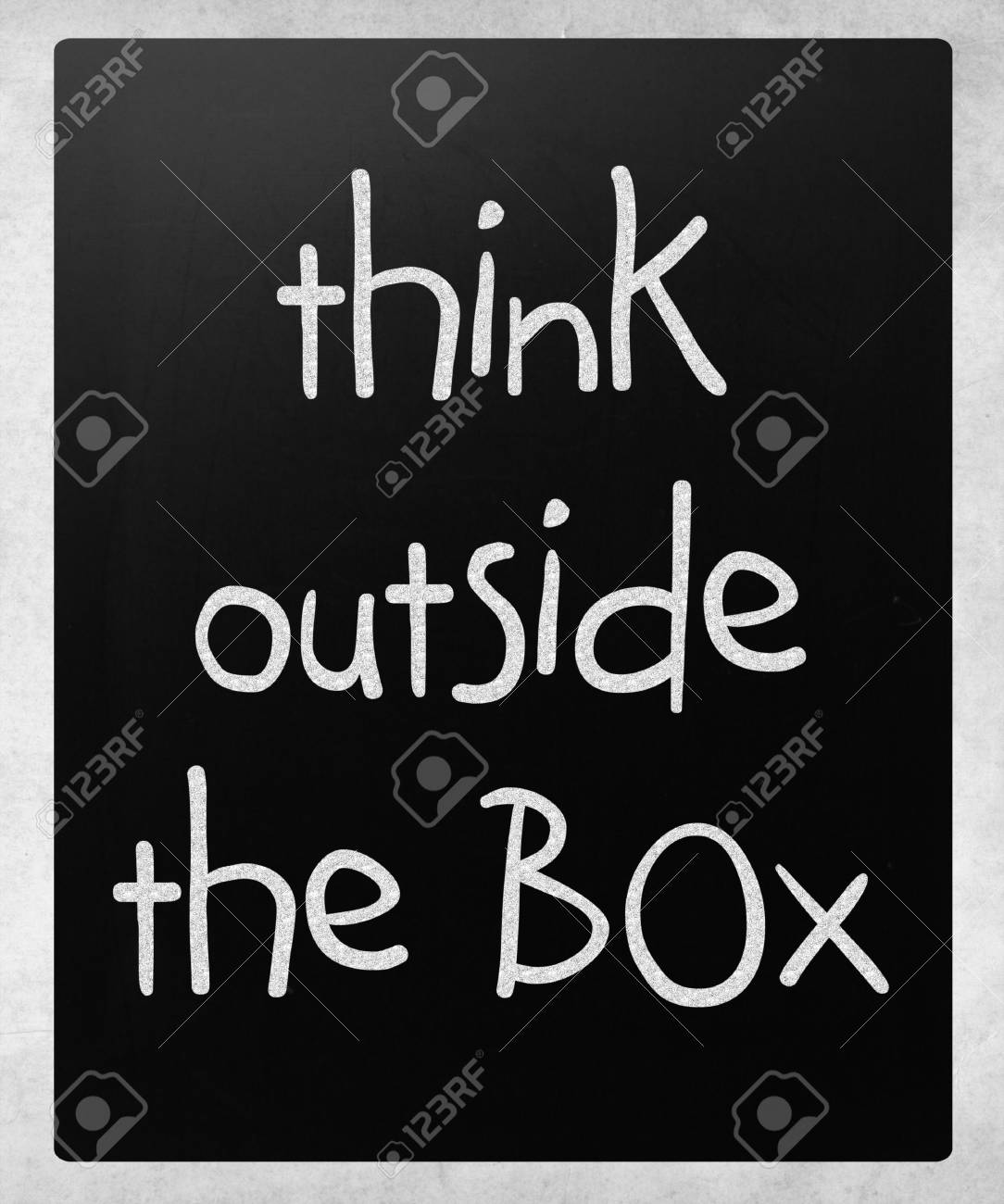 Think outside the box - concept. Stock Photo - 14401818