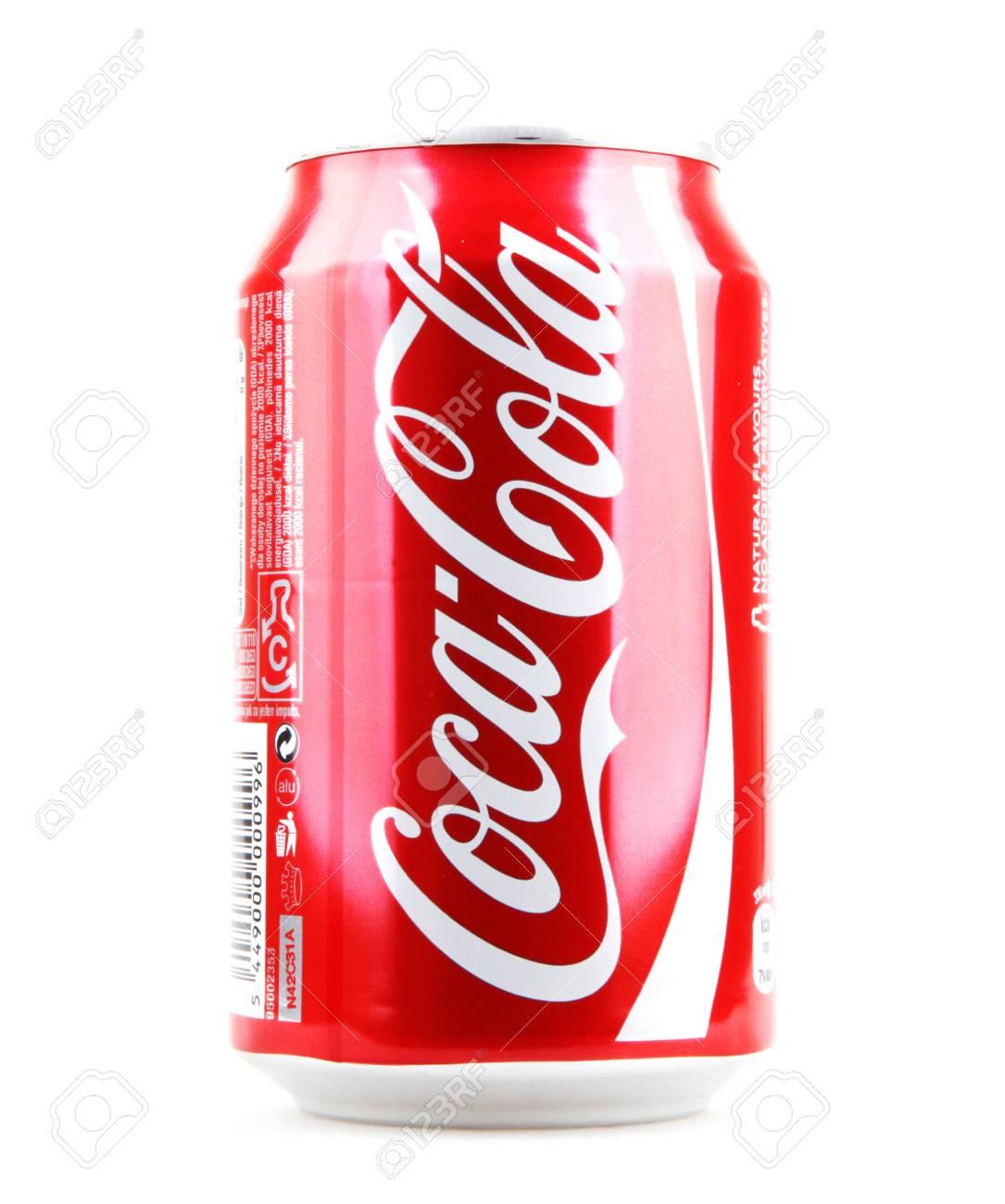Aytos Bulgaria 15 Ottobre 2014 Coca Cola Isolato Su Sfondo