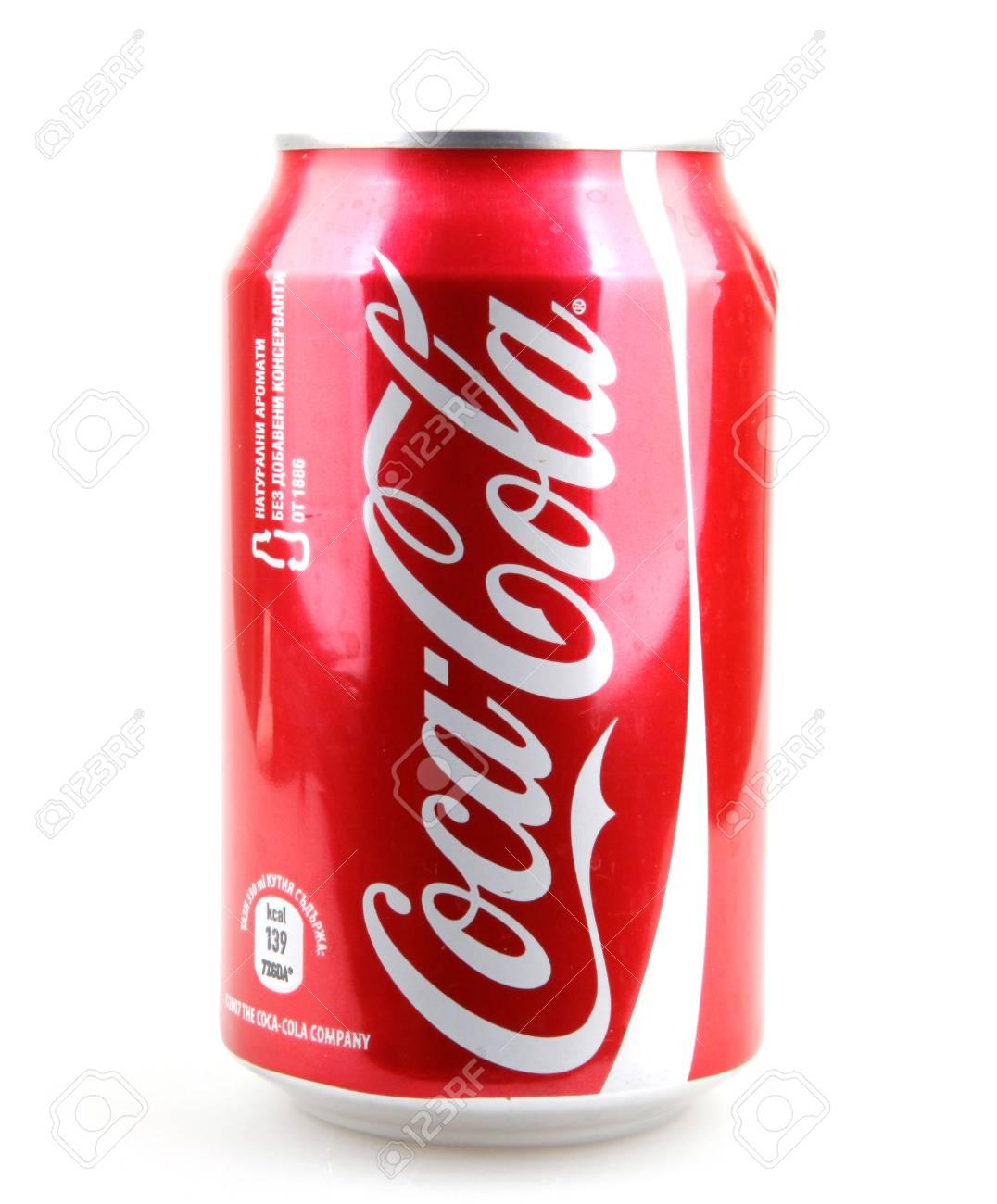 Aytos Bulgaria 11 Dicembre 2014 Coca Cola Isolato Su Sfondo
