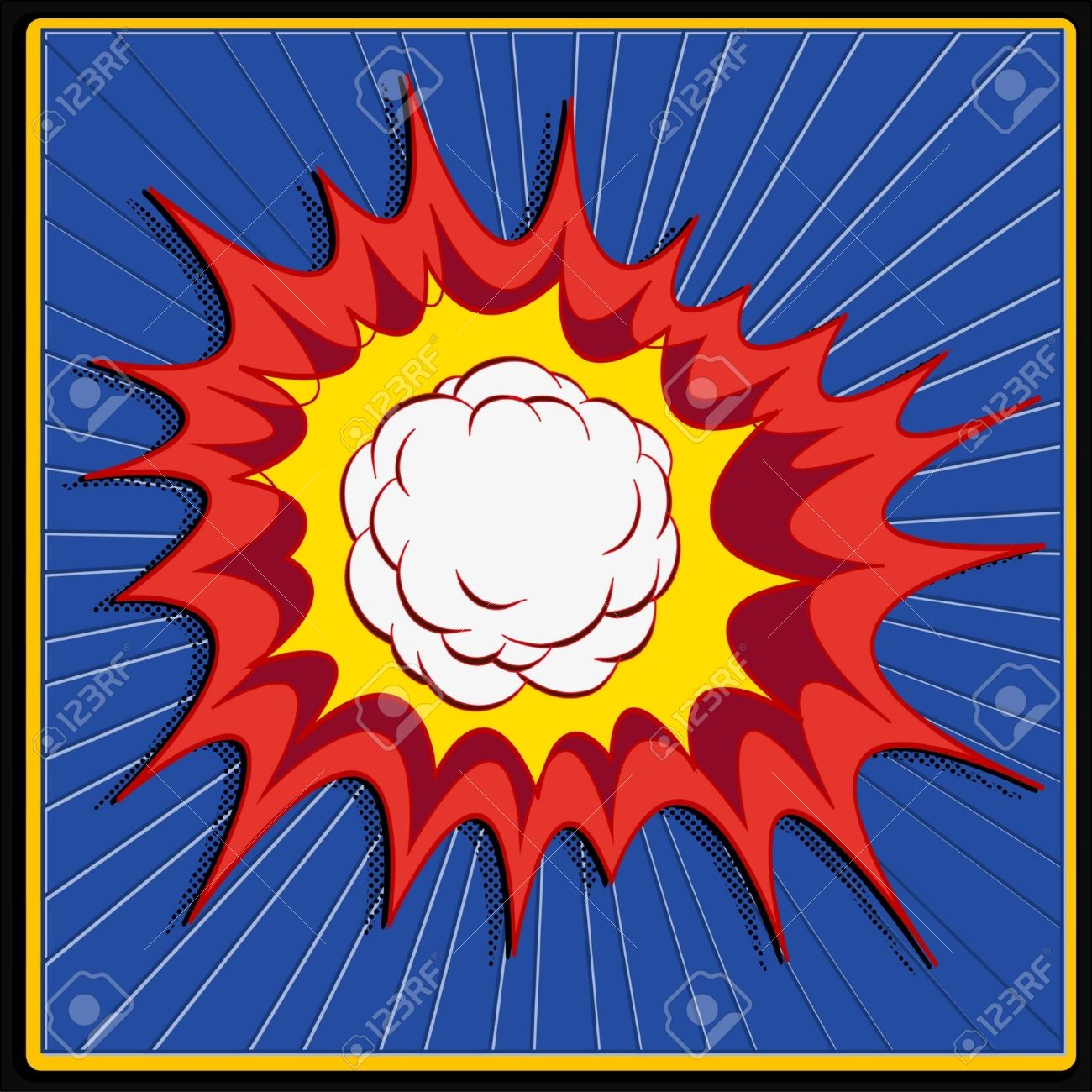 comic book explosion art Stock Vector - 21314825