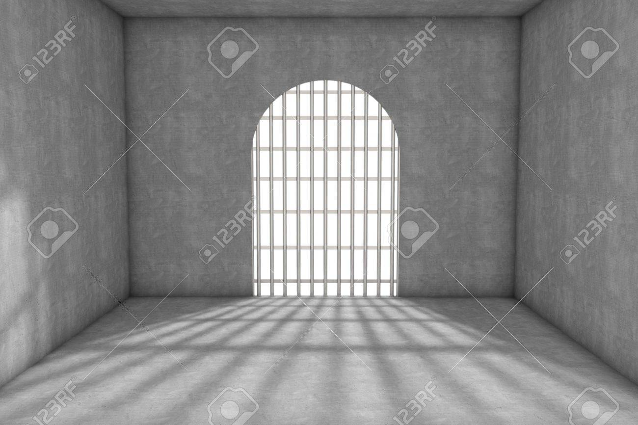 3d prison cell with lattices Stock Photo - 6663009