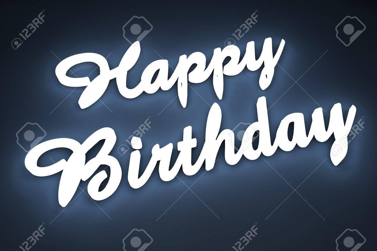 Happy birthday letter in 3d Stock Photo - 6662900