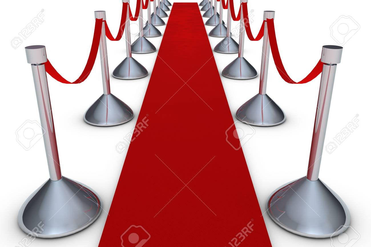 Red carpet on white background Stock Photo - 6662639