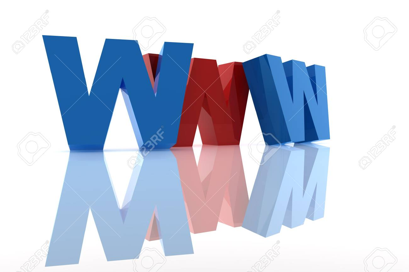 www letter written in red and blue Stock Photo - 6694970