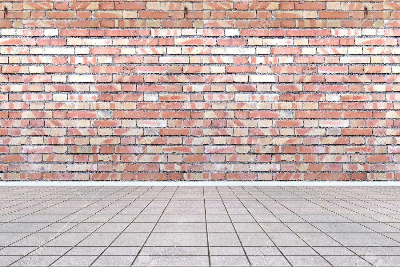 and brick wall  floor  Empty Brick Wall