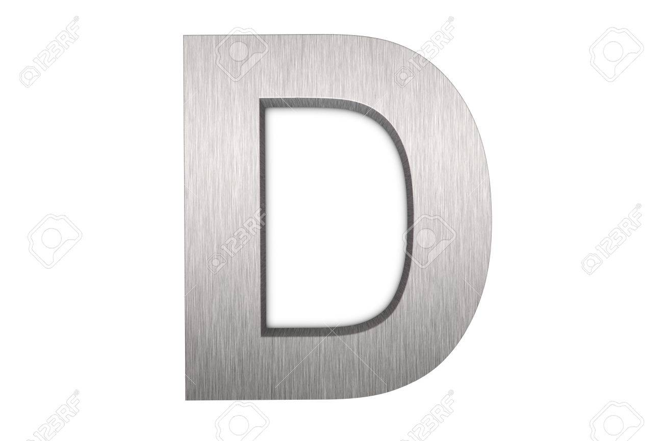 Brushed metal letter D Stock Photo - 8821407