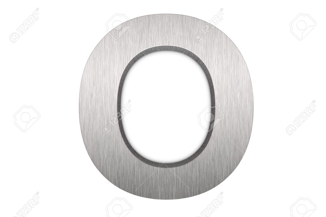 Brushed metal letter O Stock Photo - 8821413