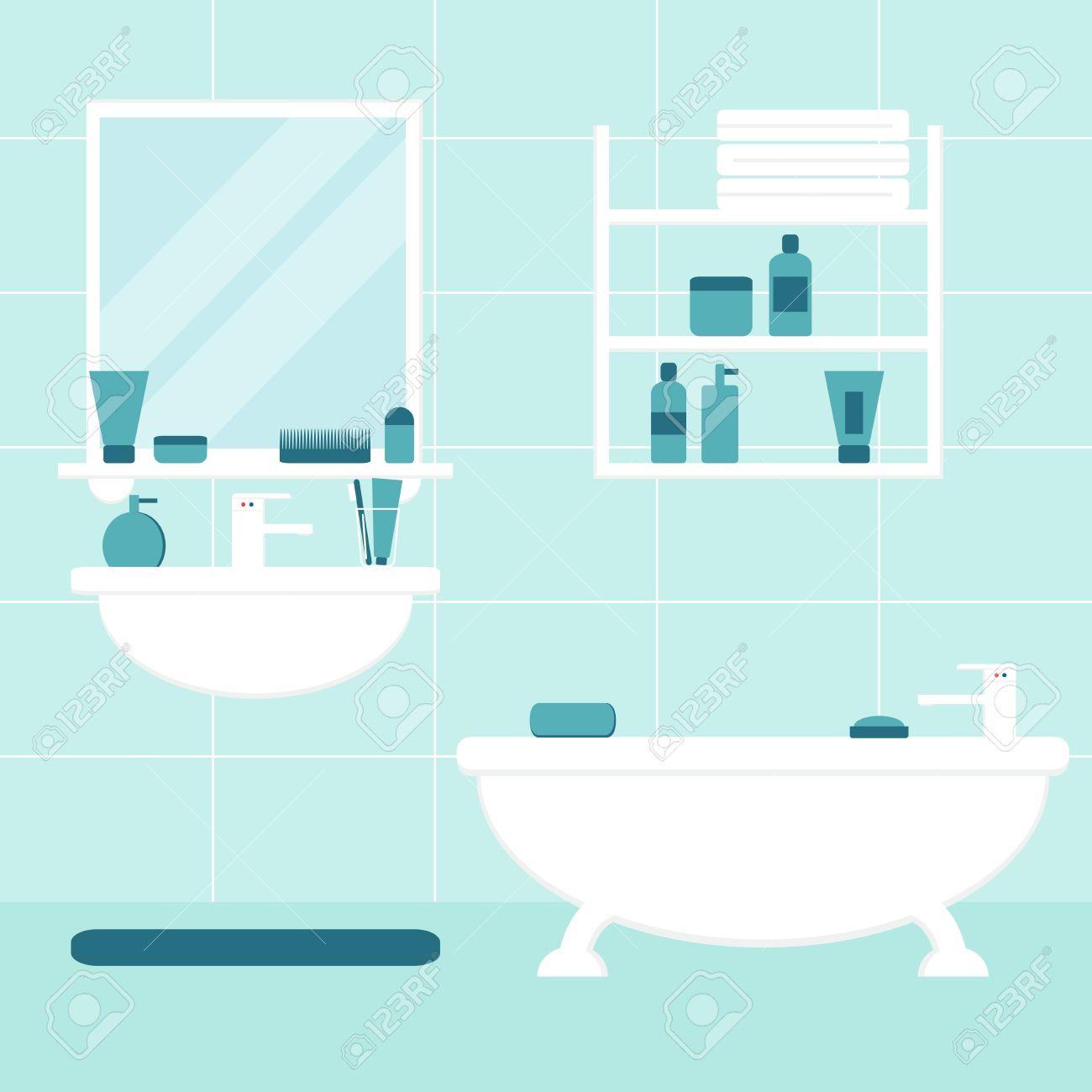Fürdőszoba. Fürdőszoba Belső. Elszigetelt Fürdőszoba Bútorok A ...