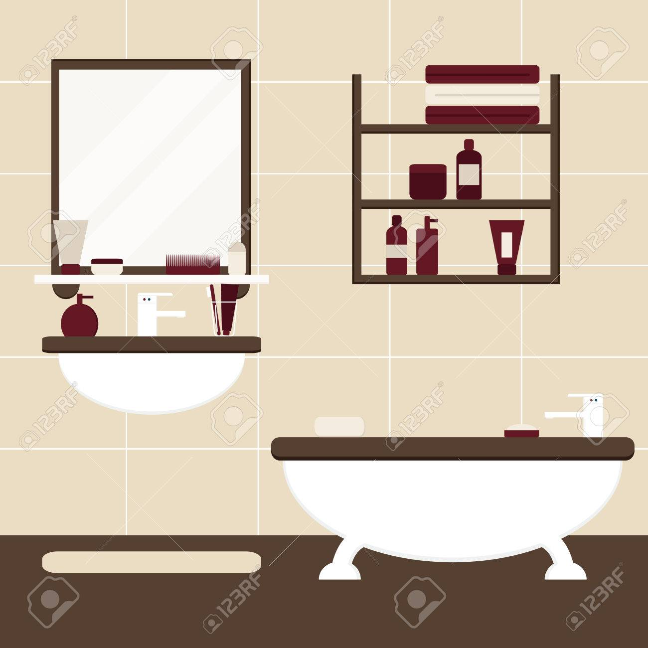 Bathroom. Bathroom Interior. Isolated Bathroom Furniture On ...