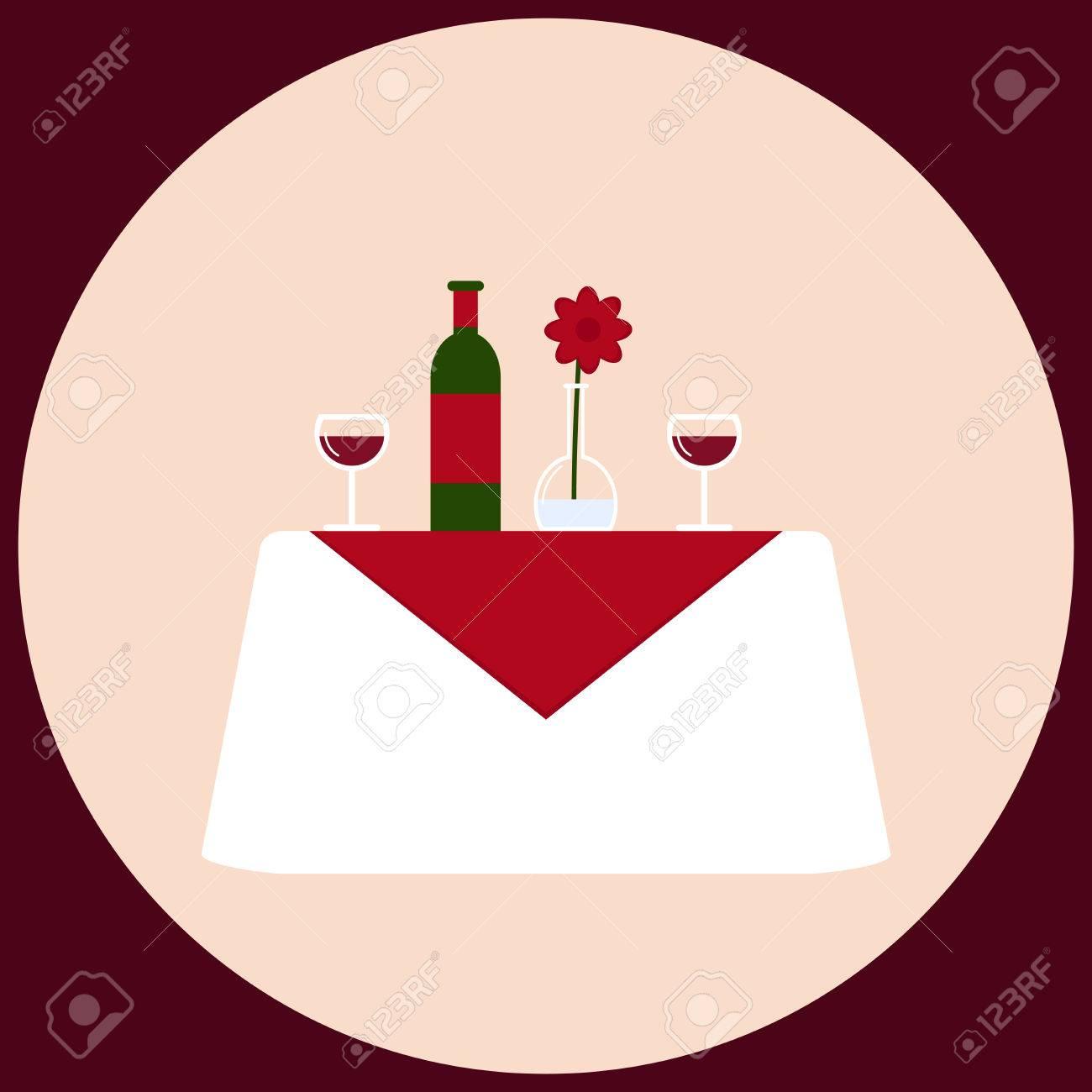 Dinner Table Background dinner table. romantic dinner for two. isolated dinner table