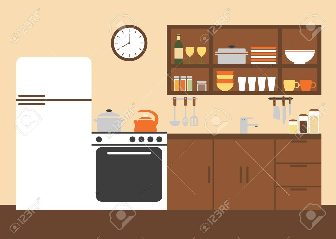 Cocina. Cocina De Diseño Interior. Muebles De Cocina Moderna ...