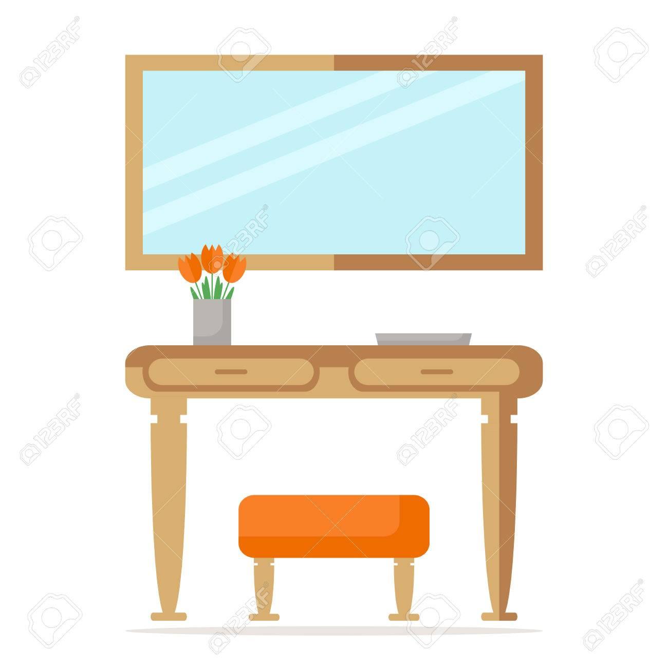 Magnífico Muebles Otomana Espejo Composición - Muebles Para Ideas de ...