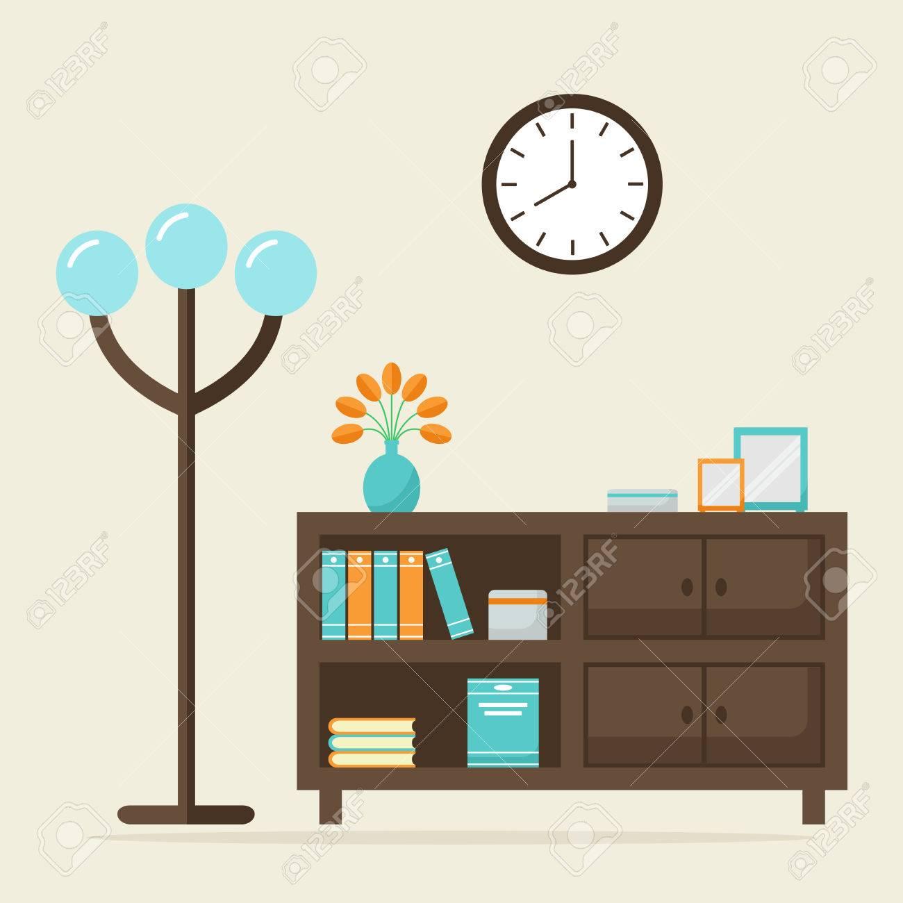 https://previews.123rf.com/images/neonicflower/neonicflower1602/neonicflower160200053/52737529-woonkamer-eigentijdse-inter-modern-houten-meubelen-ge%C3%AFsoleerde-elementen-boekenkast-staande-lamp-en-kl.jpg