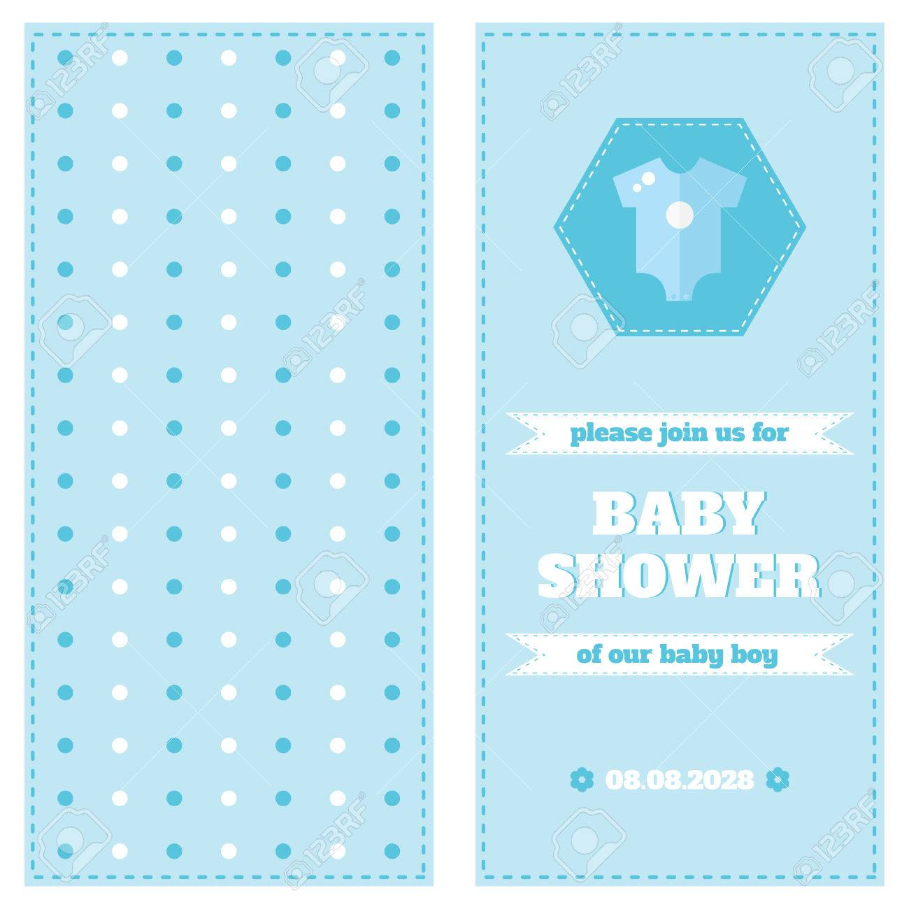 Baby Card Design Template. Baby Shower Card. Two-side Card. Welcome ...