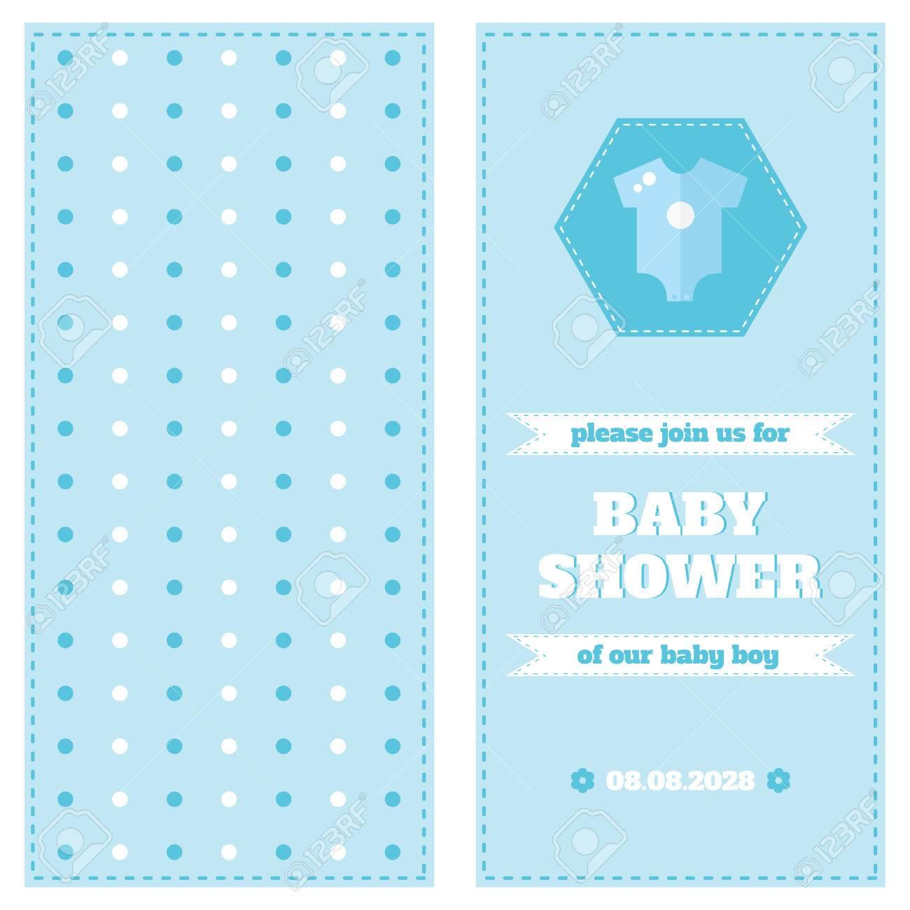 Baby-Karte Design-Vorlage. Baby-Dusche-Karte. Zweiseitige Karte ...