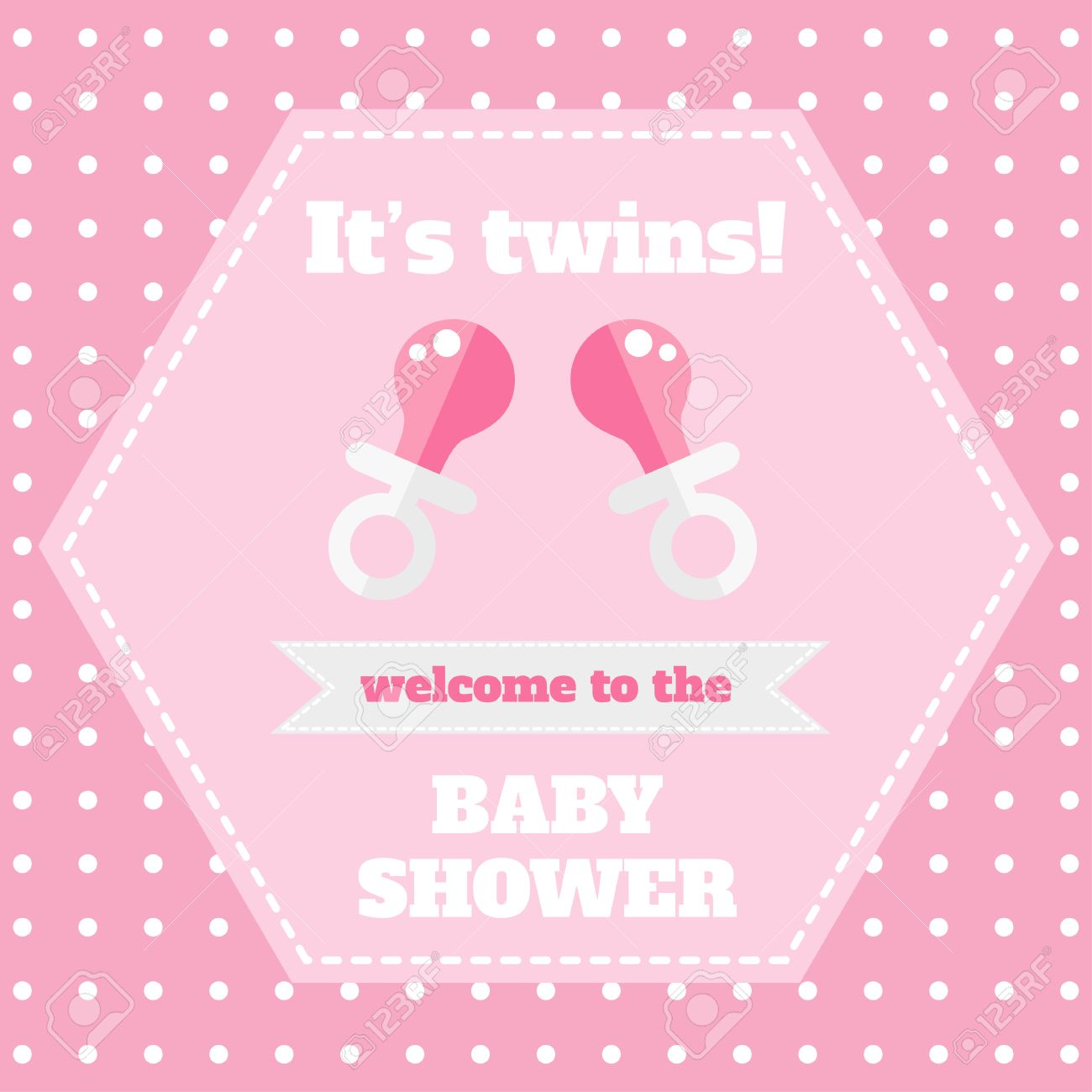 Baby Card Design Template Baby Shower Card Welcome Baby Card Royalty Free Cliparts Vectors And Stock Illustration Image 64401527