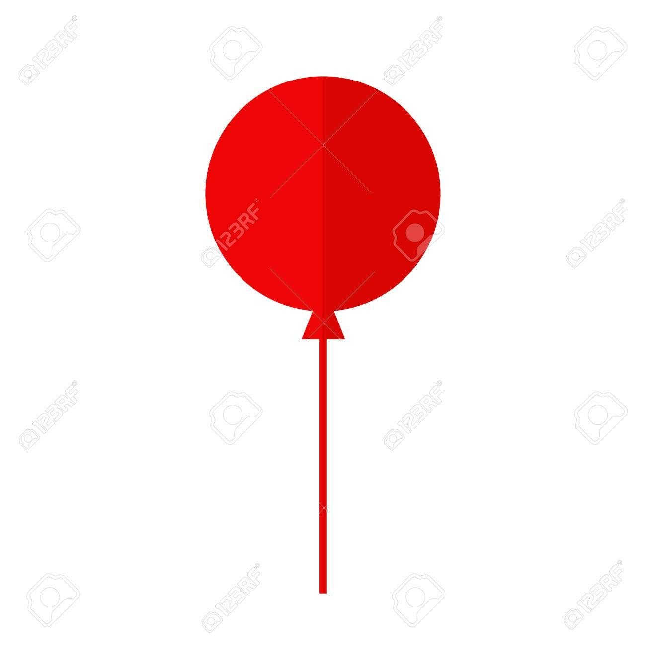 Ballon Geïsoleerd Pictogram Kleurrijke Ballon Rode Ballon Grote