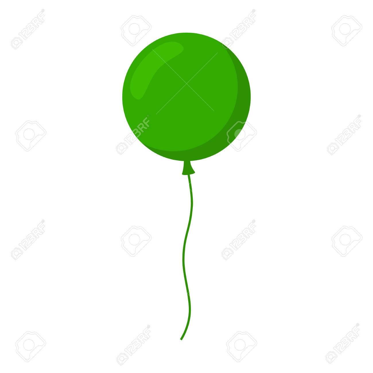 Ballon Geïsoleerd Pictogram Kleurrijke Ballon Groene Ballon Grote
