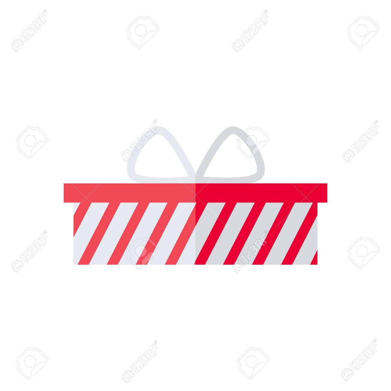 Prasentkarton Lokalisierte Ikone Auf Weissem Hintergrund Geschenk