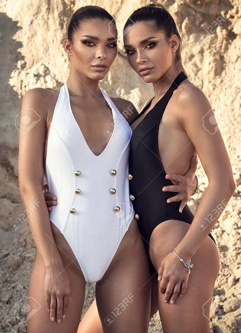 Twin sisters leotards sexy