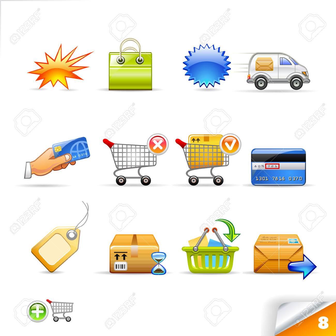 icon set 8  E-commerce Stock Vector - 5113751