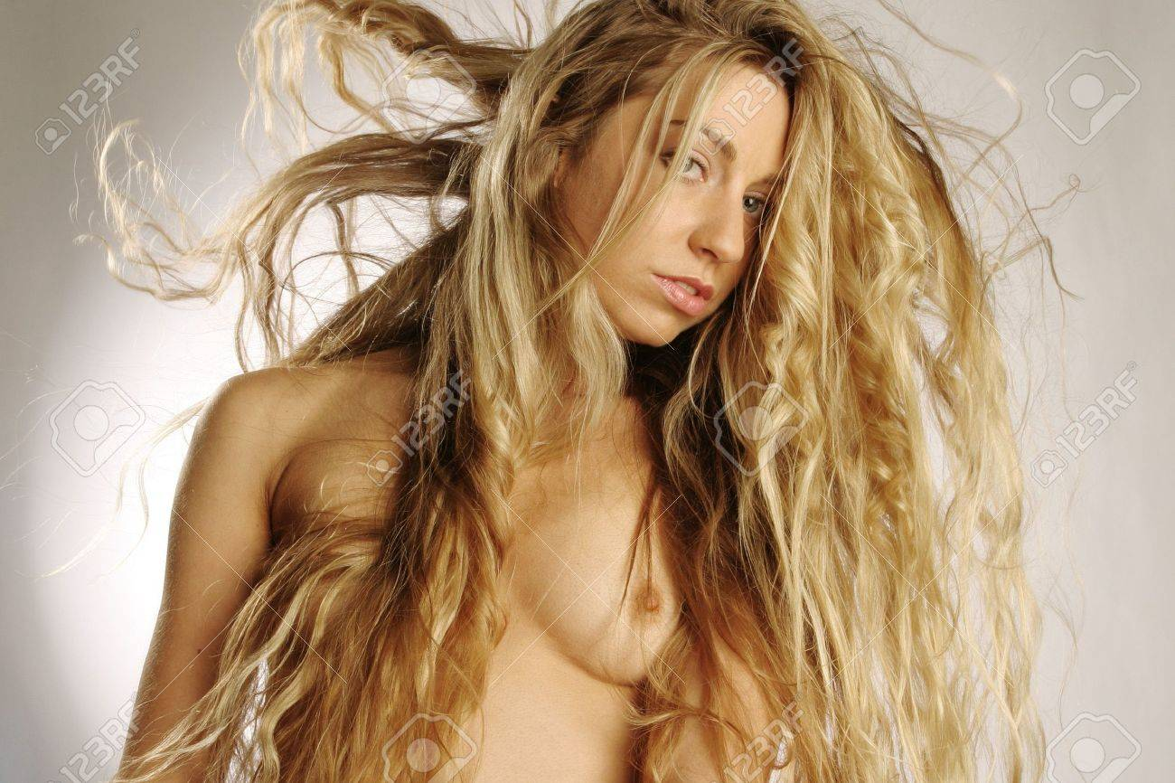 fashion model with very long hair Stock Photo - 950943