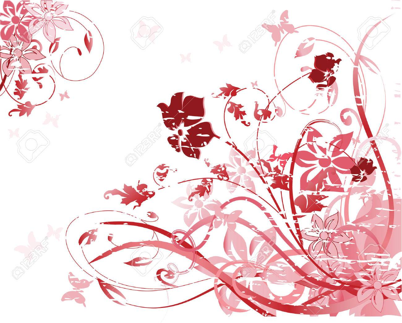 vector illustration of pink floral pattern Stock Vector - 2451312
