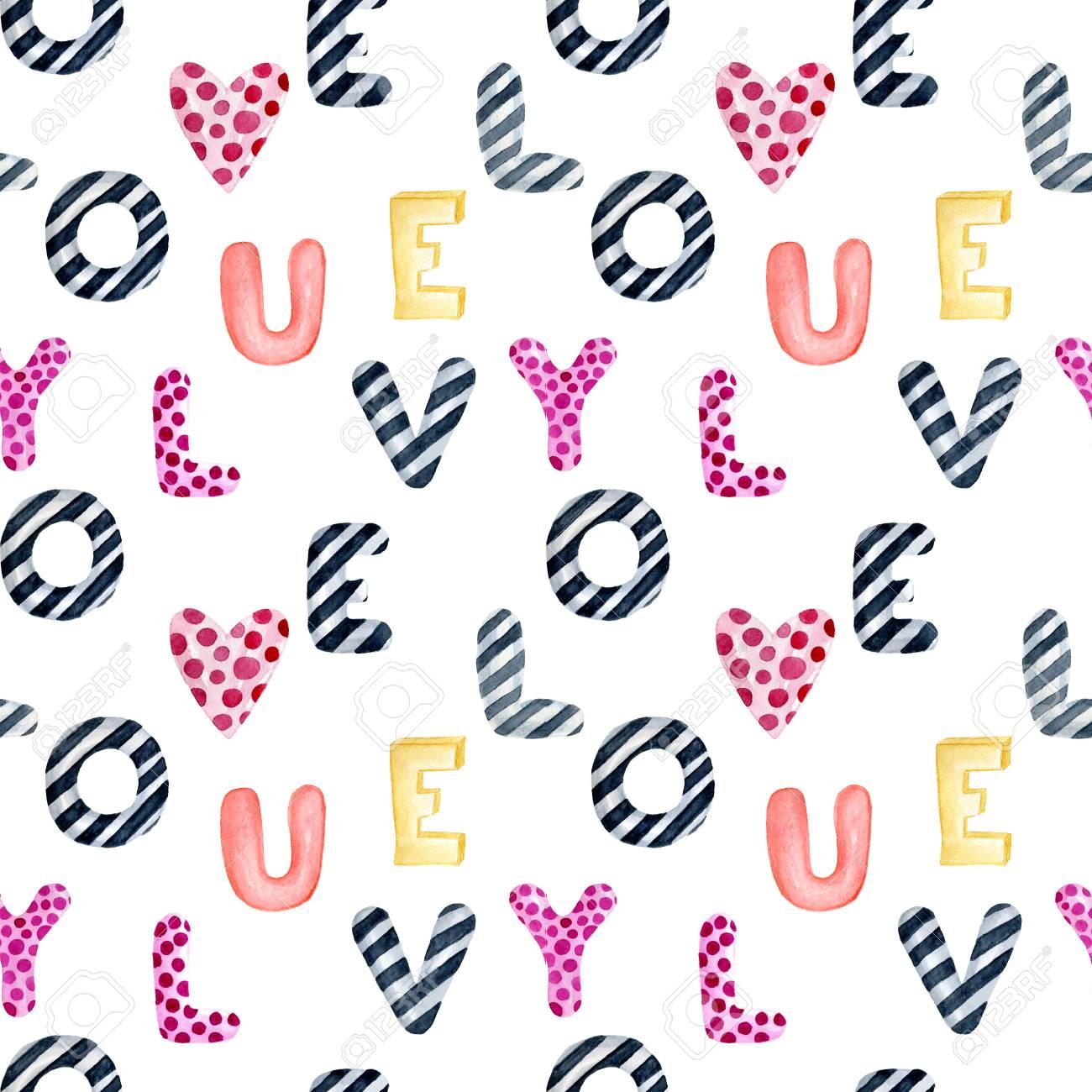 Valentinstag Grusskarte Vorlage Nahtlose Muster Plakat Packpapier