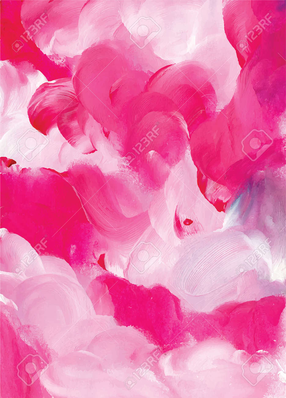 Abstract pink watercolor background hand drawn illustration - 169282138