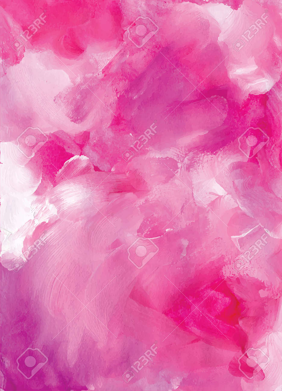 Abstract pink watercolor background hand drawn illustration - 169282139