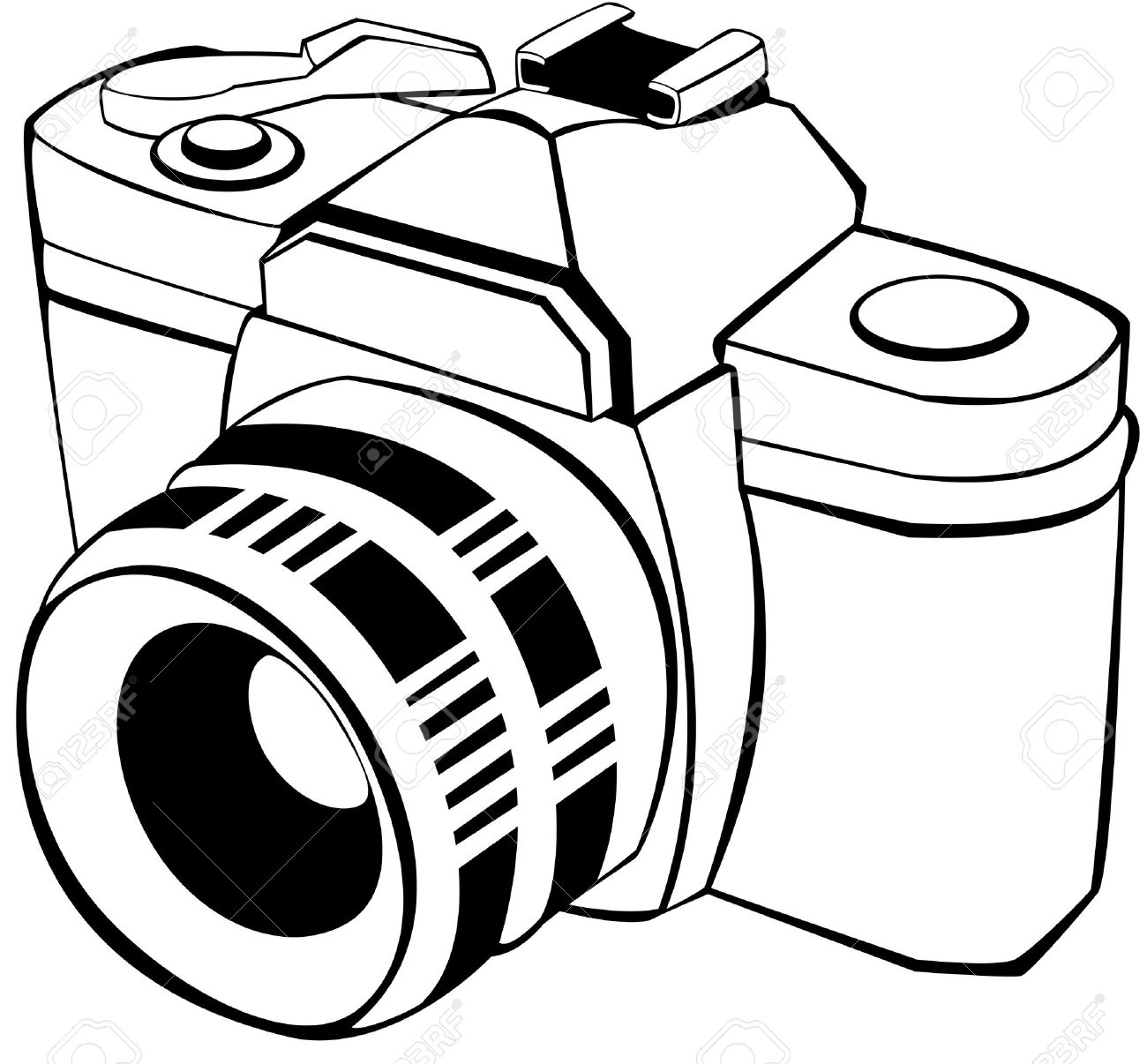 Vector Draw Of An Analogic Reflex Royalty Free Cliparts Vectors