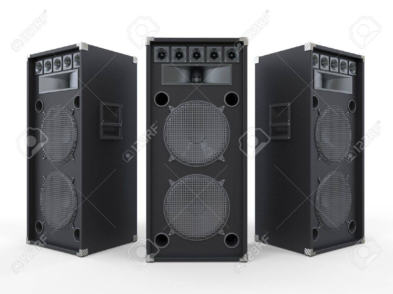 Large Audio Speakers Isolated on White Background Stock Photo - 19659952