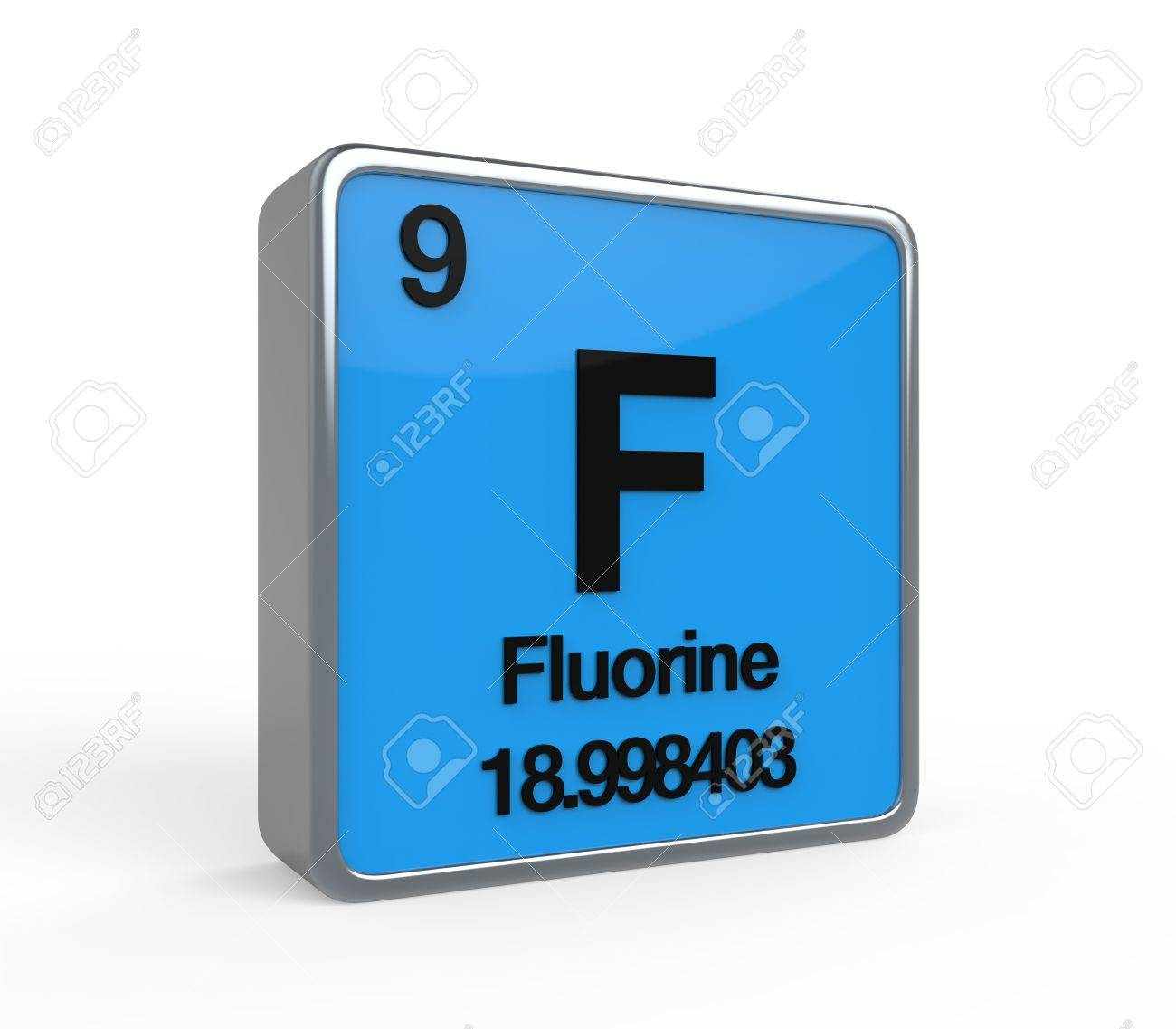 Fluorine Element Periodic Table Stock Photo Picture And Royalty