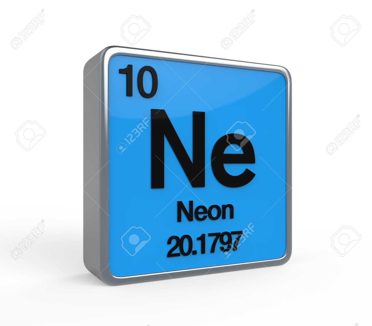 Neon Element Periodic Table Stock Photo   20533991