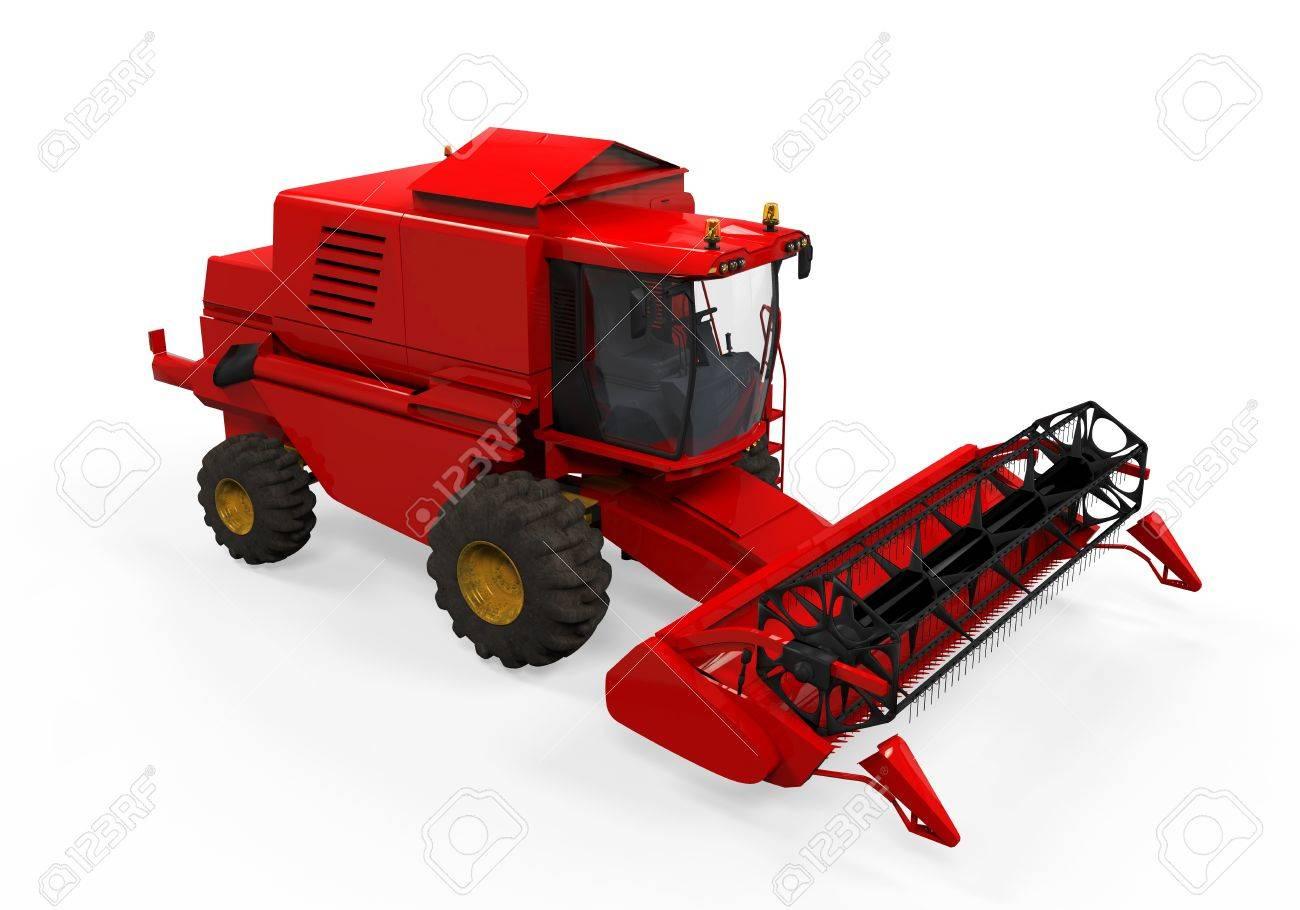 Combine Harvester Isolated Stock Photo - 20918894
