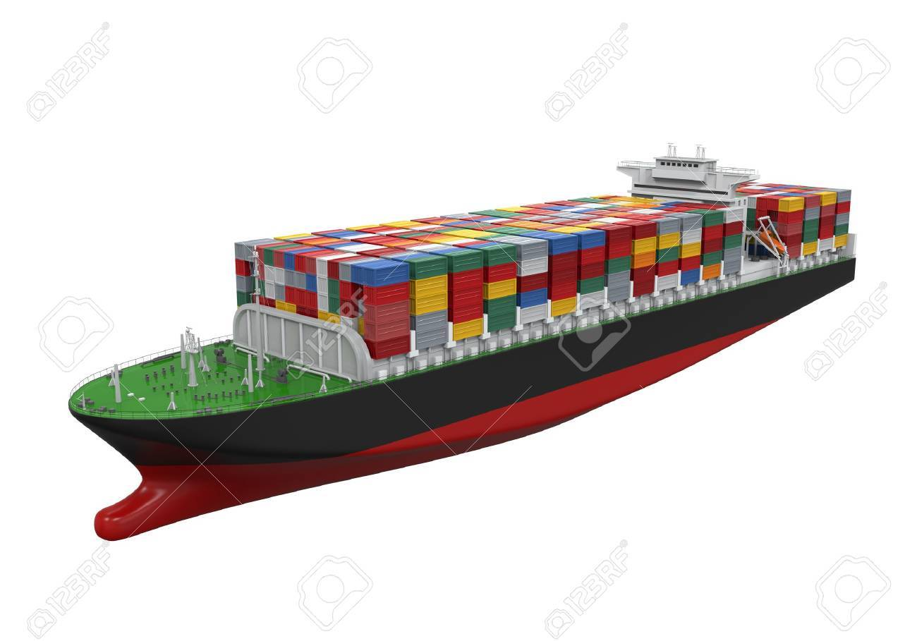 Cargo Container Ship Isolated Stock Photo - 21959759