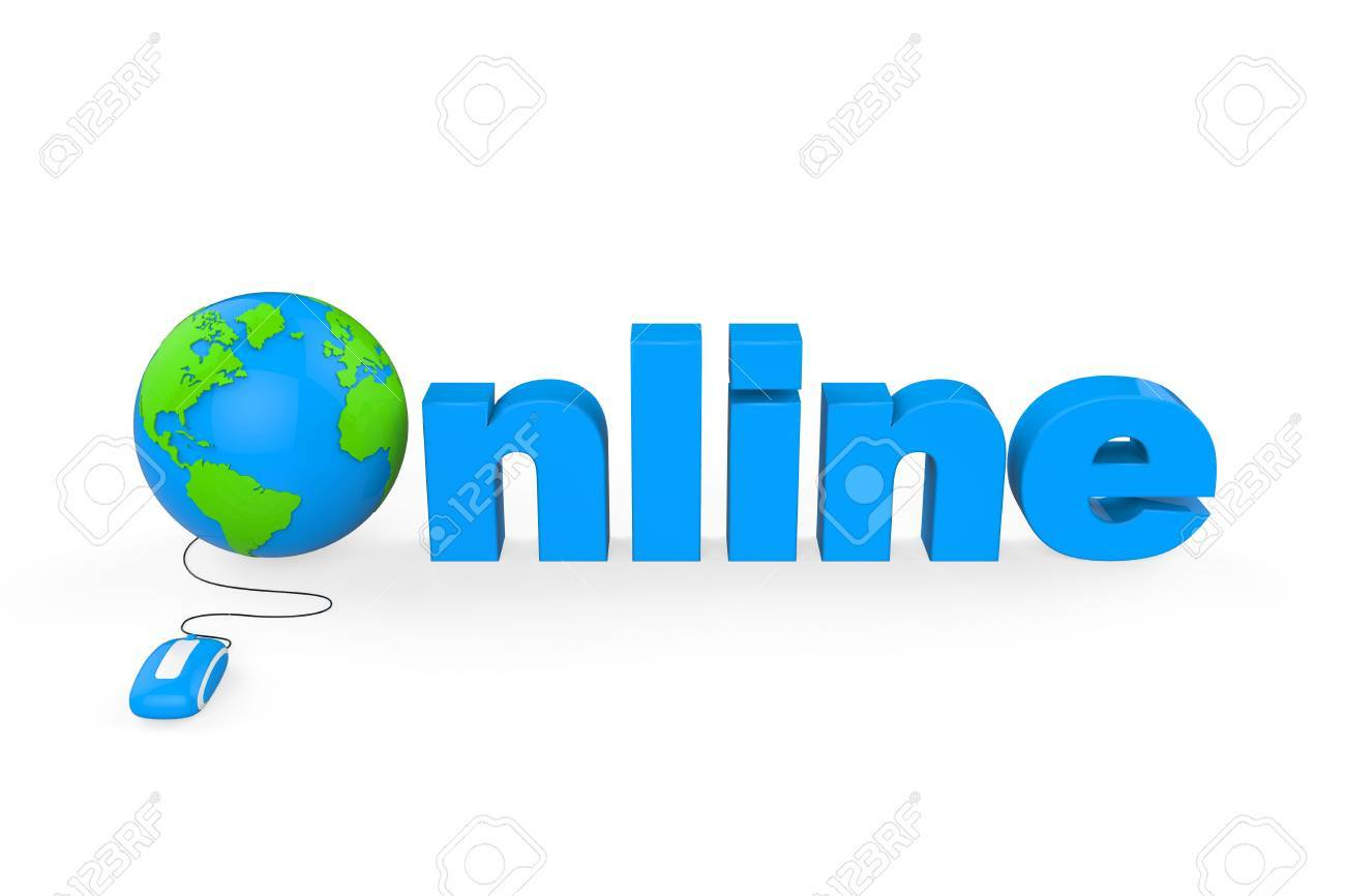Globe with Online Text Stock Photo - 21959928