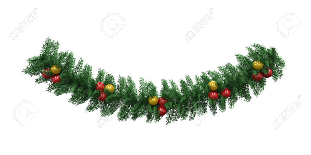 christmas garland decoration stock photo 23820629