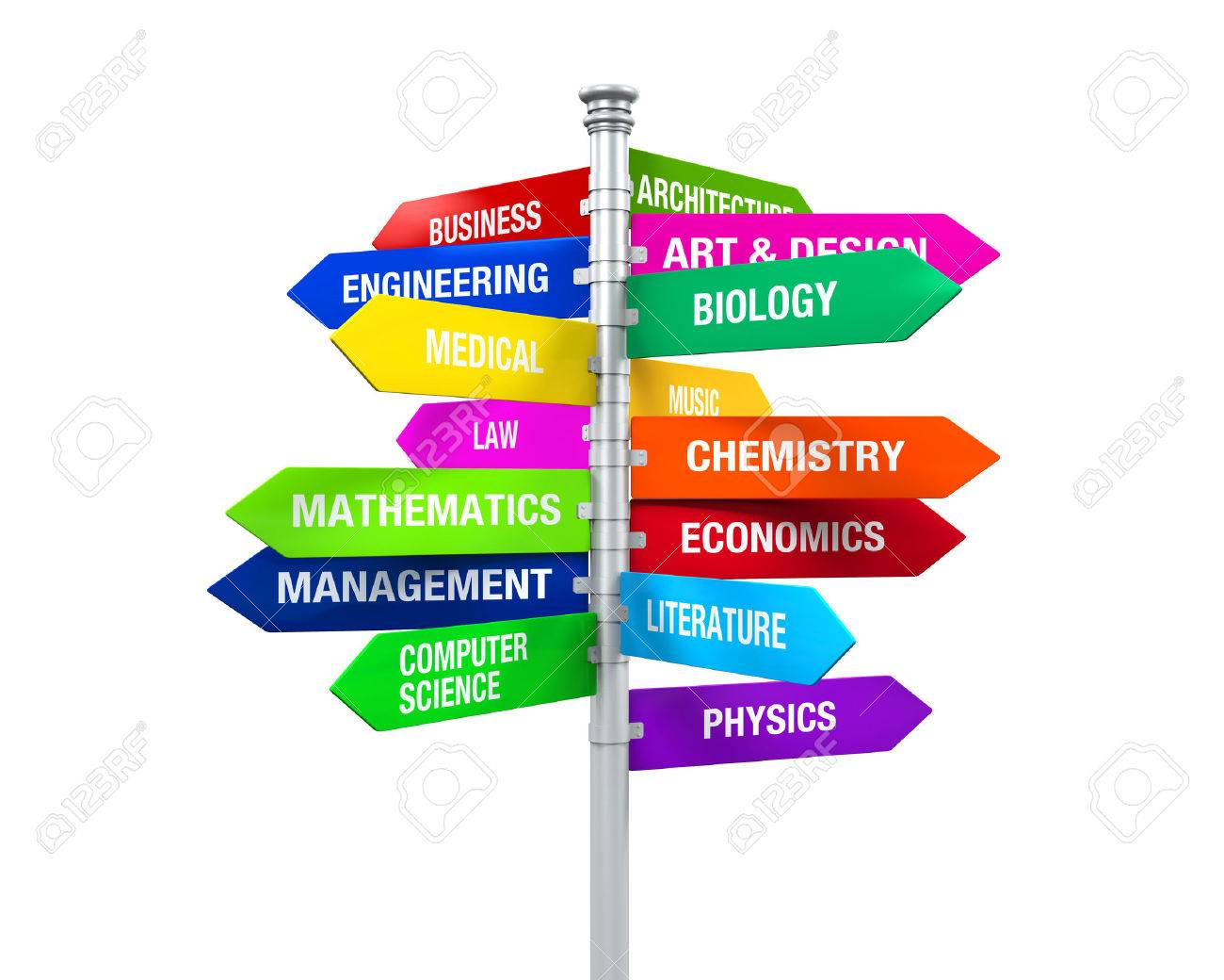 colorful direction sign of majors stock photo picture and royalty colorful direction sign of majors stock photo 27107860