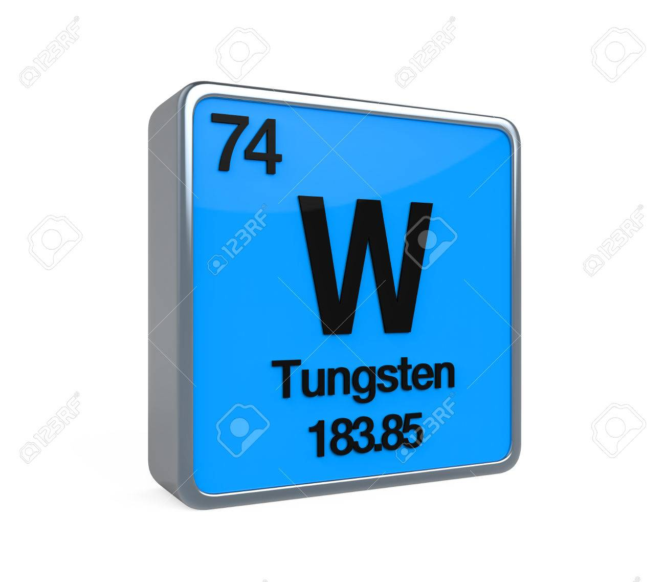 Tungsten Element Periodic Table Stock Photo Picture And Royalty