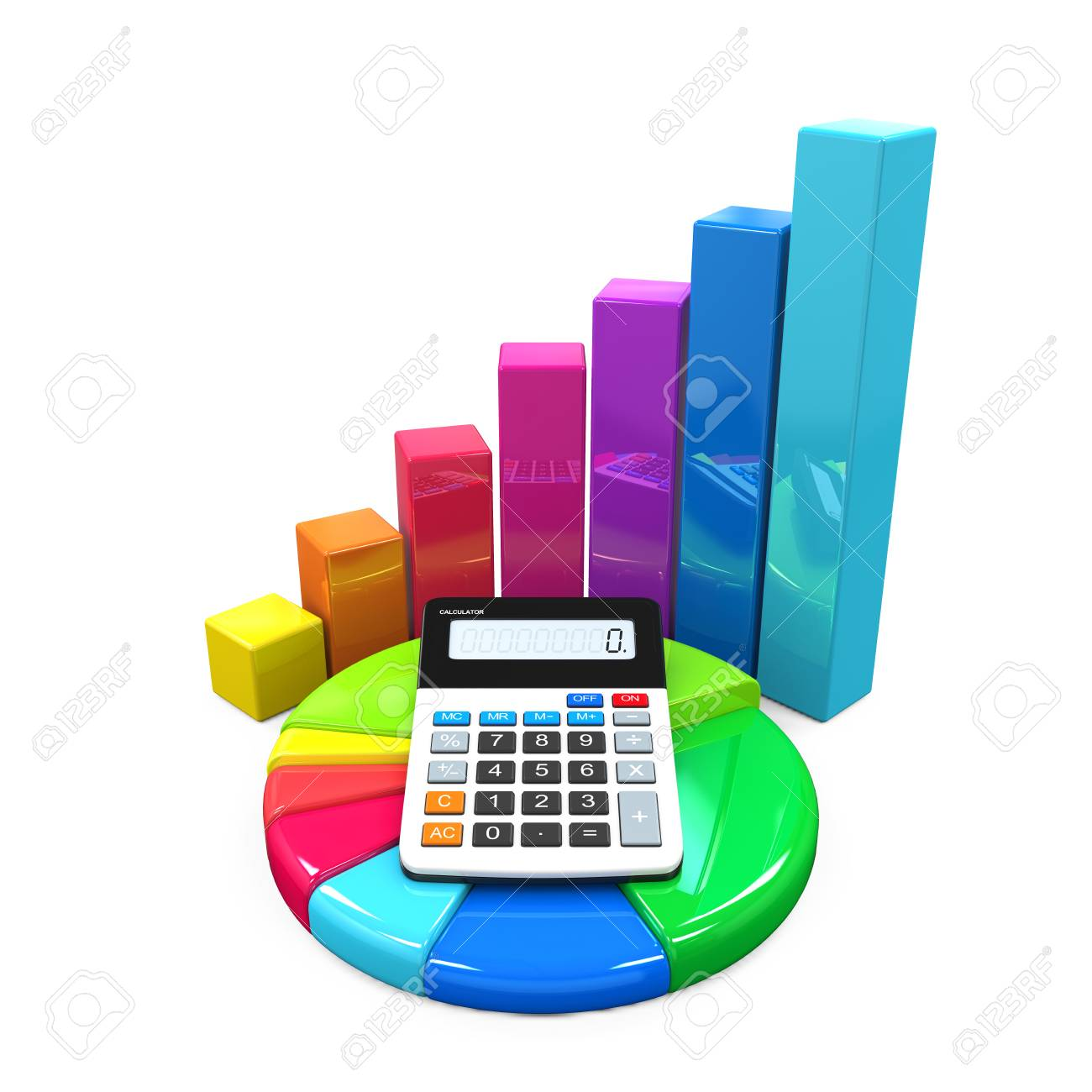 Calculator with bar graph and pie chart stock photo picture and calculator with bar graph and pie chart stock photo 38584739 ccuart Image collections