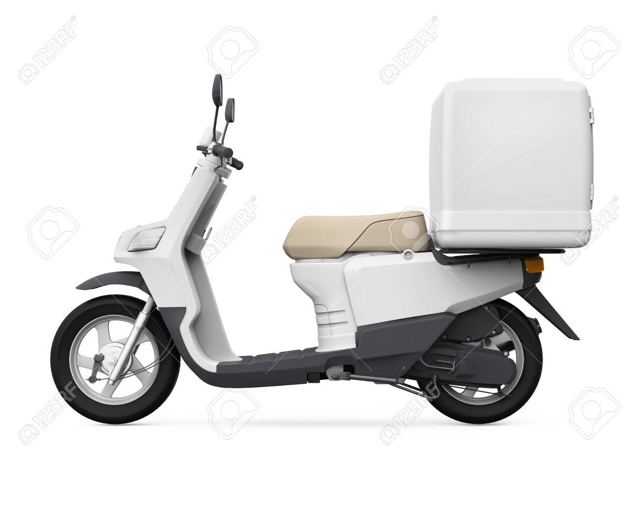 Motorcycle Delivery Box - 48466371