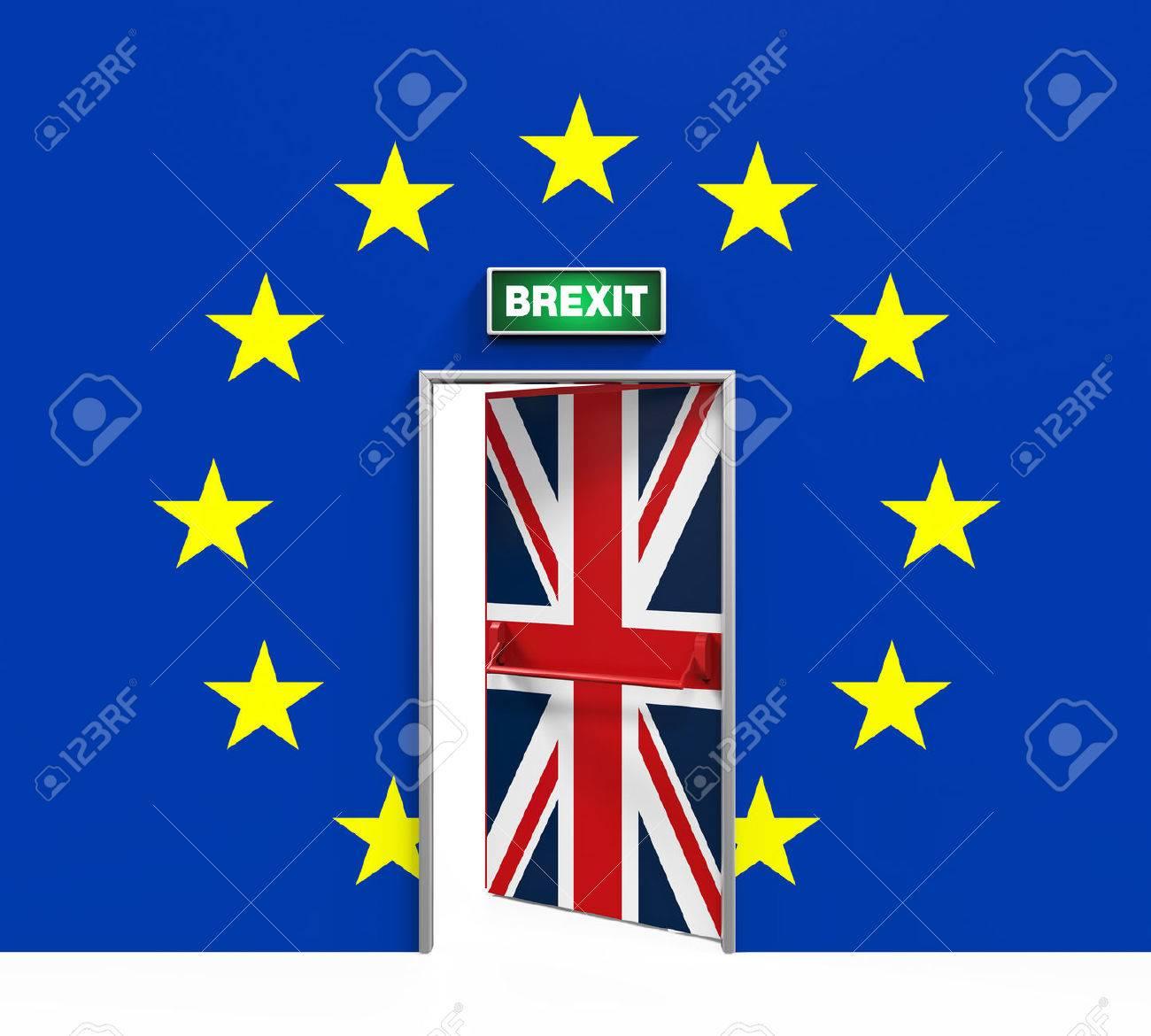 Brexit Door Illustration - 54182706