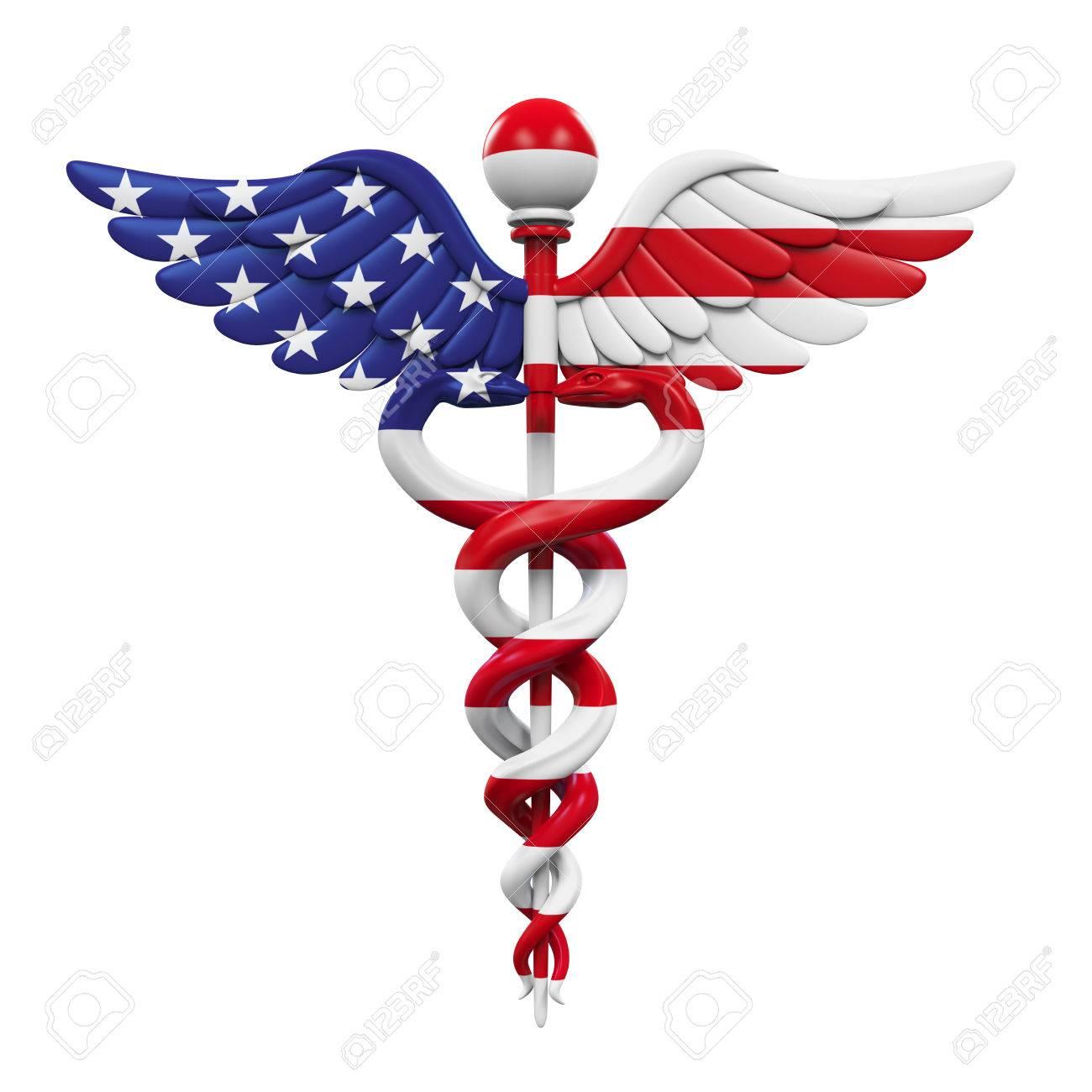 Caduceus American Flag - 62345895