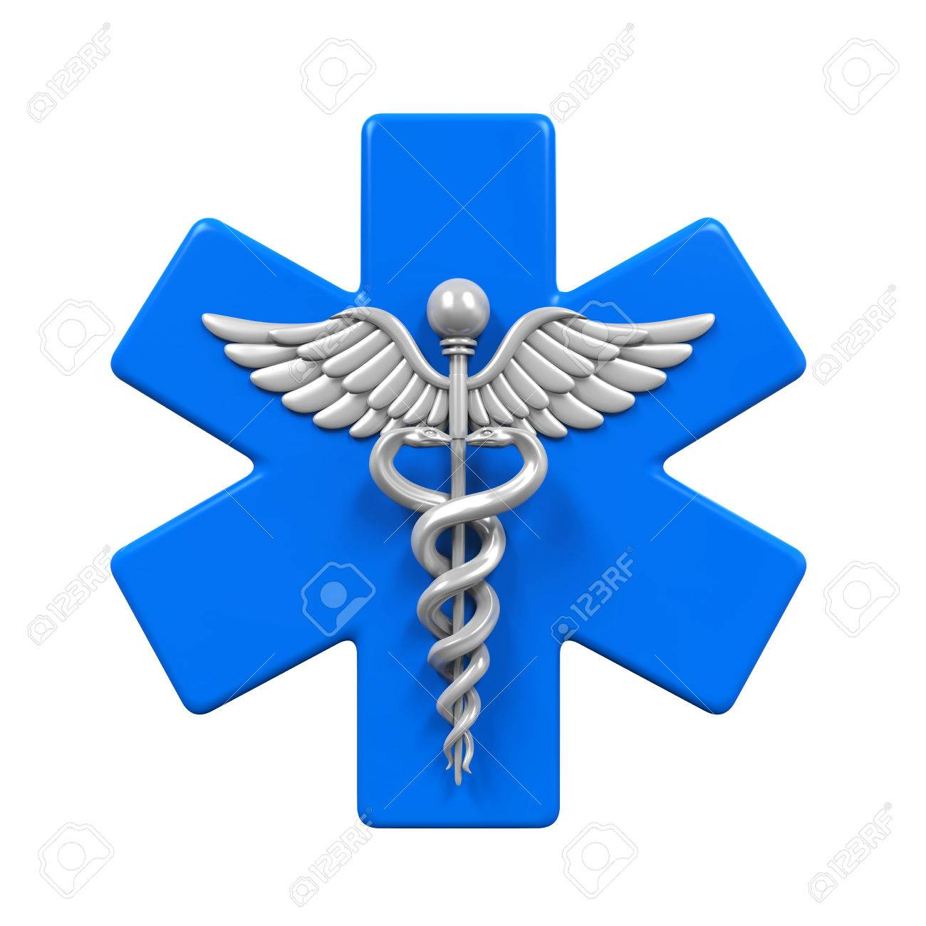 Star Of Life Caduceus Symbol Stock Photo Picture And Royalty Free