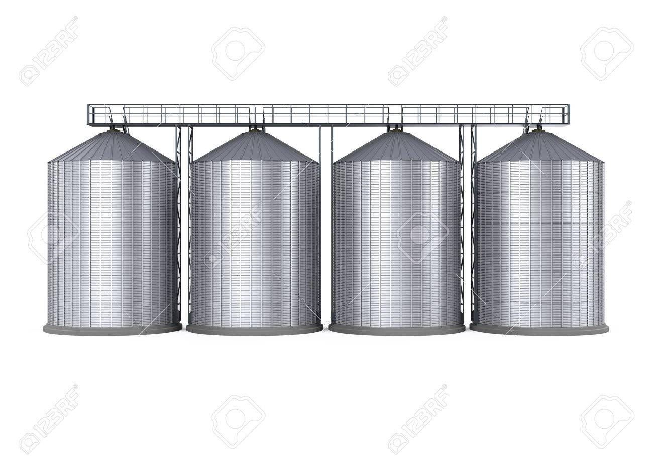 Agricultural Silo Isolated - 63981906