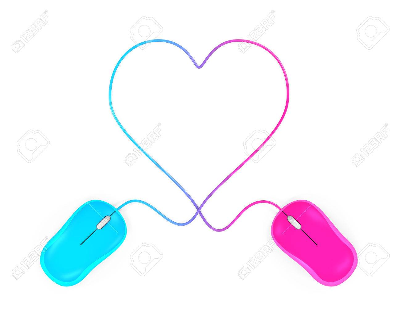 074f7f38bab Heart Shaped and Computer Mouse Stock Photo - 67255813
