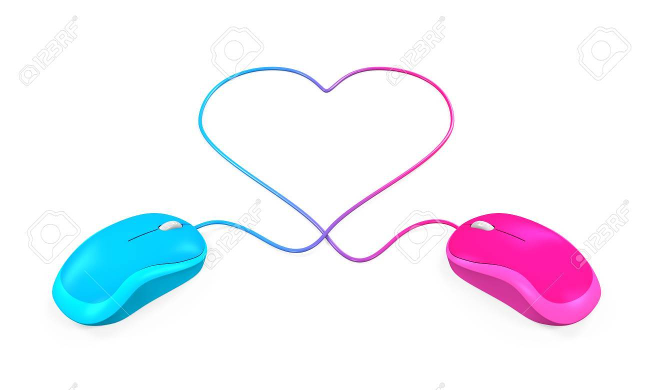 e91262ab8c8 Heart Shaped and Computer Mouse Stock Photo - 67255815